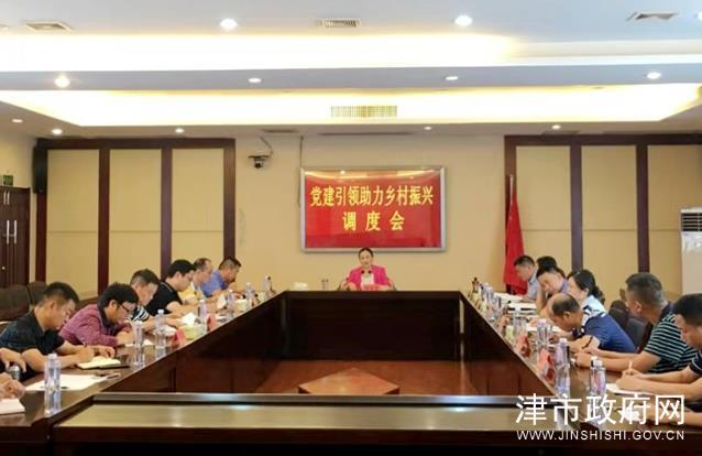 杨文惠调度党建引领助力乡村振兴工作